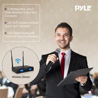 PYLE-PRO PDWM3360 UHF WIRELESS MICROPHONE SYSTEM Thumbnail 3