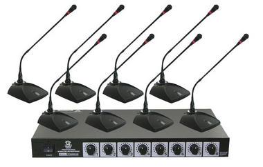 Pyle Pro Eight VHF DJ Wireless Conference Desktop Desk Mics Microphone System Thumbnail 1