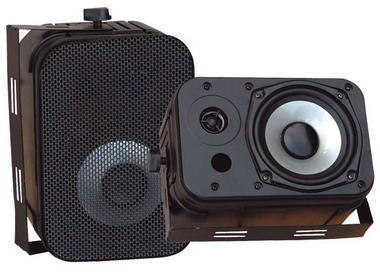 Pyle PDWR40B Indoor Outdoor Waterproof Bookshelf Wall Mount Hi-Fi Patio Speakers Thumbnail 1