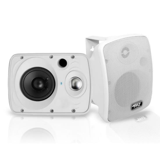 "Pyle PDWR64BTW 6.5"" Marine Waterproof Bluetooth Outdoor Indoor Speaker With Amp Thumbnail 1"