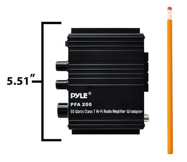 Pyle PFA200 60 Watt Class-T Hi-Fi Audio Amplifier with AC Adapter Included Thumbnail 5