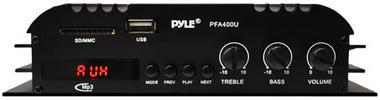 Pyle PFA400U 100W Class T Hi-Fi Amplifier USB/SD iPod Player With AC Adapter Thumbnail 3