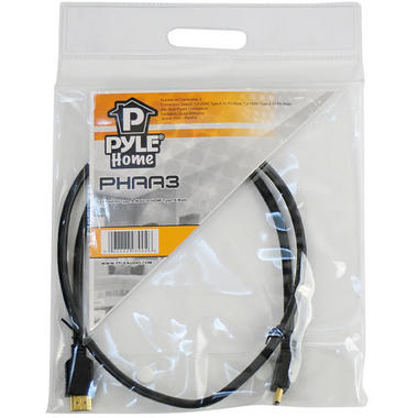 Pyle-Home PHAA3 3 ft. HDMI Cable with 24k Gold-Plated Connectors Thumbnail 3