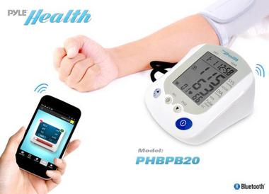 Pyle PHBPB20 Bluetooth Smart Blood Pressure Monitor with Health Tracking App Thumbnail 3