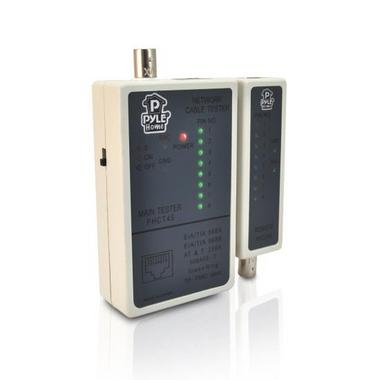 Pyle PHCT45 Network Cable Tester | Checks RJ45 RJ11 BNC Network Cables Thumbnail 1