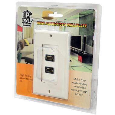 Home Hi Fi Cinema AVR Amplifier Twin 1080p HDMI Wall Plate Socket Block White Thumbnail 4