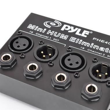 Pyle-Pro PHE400 Hum Noise Eliminator Destroyer 2-Channel Box with XLR Jacks Thumbnail 3