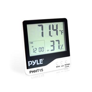 Pyle PHHT15 Digital Hygro Thermometer Humidity Meter Indoor Weather Station Thumbnail 1