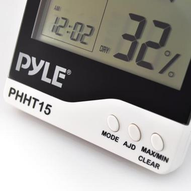 Pyle PHHT15 Digital Hygro Thermometer Humidity Meter Indoor Weather Station Thumbnail 4