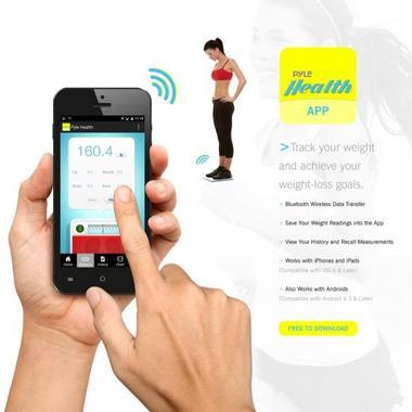 Pyle PHLSCBT2SL Bluetooth Digital Weight Scale Wireless Data Transfer + App Thumbnail 3