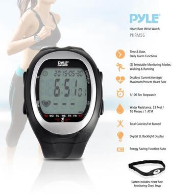Pyle PHRM56 Heart Rate Watch Monitor 3D Walking Running Training Cardio Sensor Thumbnail 3