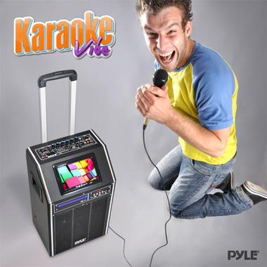 "PYLE-PRO PKRK8 8"" PORTABLE PA SPEAKER W/DVD/7""SCREEN Thumbnail 5"