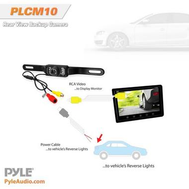 Pyle Numberplate Mount Rear View Reverse Reversing Camera With IR Night Vision Thumbnail 5