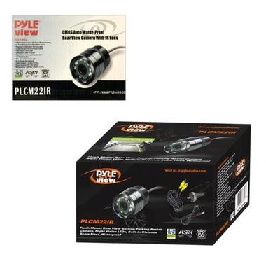 Pyle PLCM22IR Flush Surface Mount Universal Rear View Camera IR Night Vision Thumbnail 5