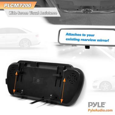 "Pyle PLCM7200 7"" TFT Mirror Monitor with Rearview Night Vision IR Camera Thumbnail 6"