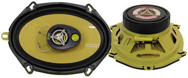 "Pyle Gear X Yellow 5x7"" Coaxial 3 Way Pair Of Car Door Speakers 480w Ford Mazda Thumbnail 1"