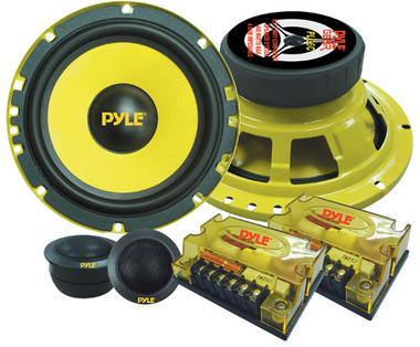 "Pyle PLG6C 6.5"" 400w 2-Way Custom Component Kit Set Car Door Speakers System Thumbnail 1"