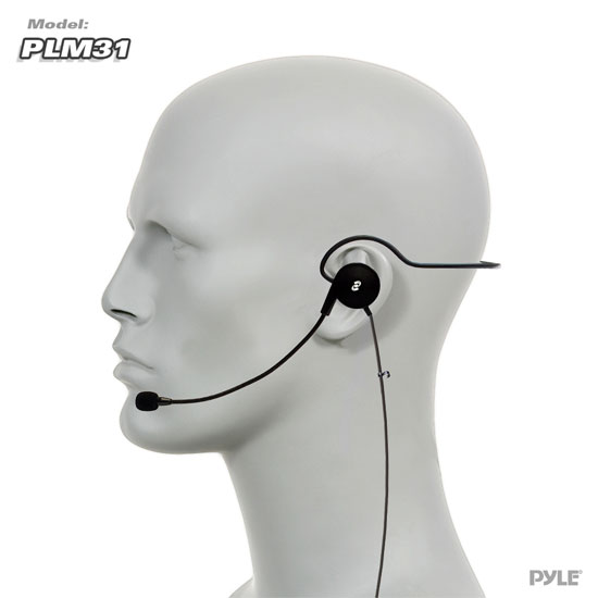 PylePro PLM31 Cardioid Headset Microphone with Wired Boom for Beltpack System Thumbnail 3
