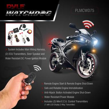 Pyle PLMCWD75 Motorcycle Motobike Scooter 12v Vehicle Alarm Security System Thumbnail 3
