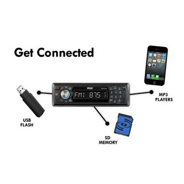 Pyle PLMR17BTB AM/FM Marine Detachable Face Radio w/SD/MMC/USB & Bluetooth Thumbnail 6