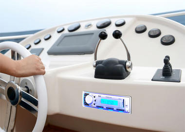 Pyle PLMR20W Marine In-Dash AM/FM Radio MP3 & USB SD AUX iPod Input Receiver Thumbnail 5