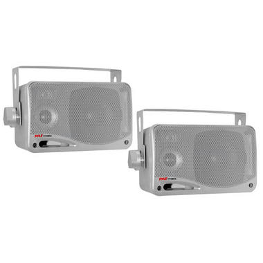 "Pyle PLMR24S 3.5"" 3-Way WaterProof Marine Boat Patio Outdoor Speakers Thumbnail 1"