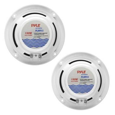 "Pyle WaterProof Outdoor Boat Patio Marine 5.25"" In Wall Cabin Deck Speakers Thumbnail 3"