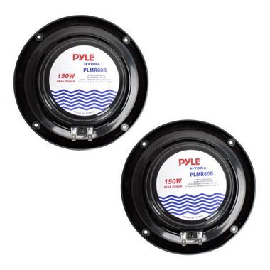 "Pyle PLMR60B WaterProof 150W 6.5"" Inch Coaxial Marine Boat Cabin Audio Speakers Thumbnail 3"
