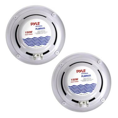 Pyle PLMR60S 150w 6.5'' 2 Way Marine Boat Speakers (Silver Color) Thumbnail 3