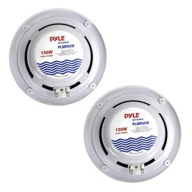 """Pyle PLMR60W WaterProof 150W 6.5"""" Inch 2 Way Marine Boat In Wall Cabin Speakers Thumbnail 3"""