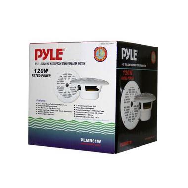 """Pyle PLMR61W WaterProof 120W 6.5"""" Inch 2 Way Marine Boat In Wall Cabin Speakers Thumbnail 5"""