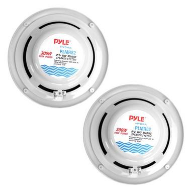 "Pyle WaterProof Outdoor Boat Patio Marine 8"" Inch In Wall Cabin Speakers Thumbnail 3"