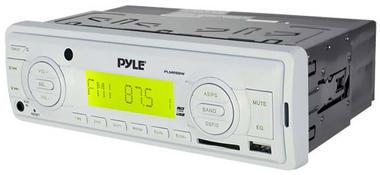 Pyle PLMR88W AM/FM-MPX In Dash Marine MP3 Player/USB & SD Card Function Thumbnail 3