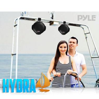 Pyle PLMRB85 8 inch 600W 2-Way Marine Wake Board Tower Pod Speakers Pair Thumbnail 7