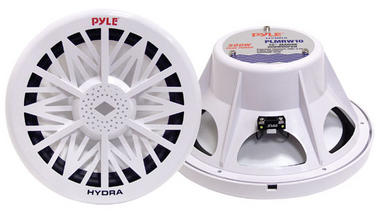"Pyle PLMRW10 10"" 500W 4 Ohm Marine WaterProof ABS Subwoofer Sub Bass Speaker Thumbnail 1"