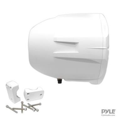 Pyle Hydra WaterProof Monster 400w Marine White Boat Wakeboard Tower Speakers Thumbnail 6