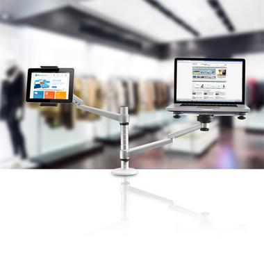 Pyle PLPPADMT20 Dual Laptop & Tablet Holder Stand Swivel, Tilt & Rotation Thumbnail 7