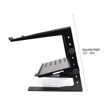 PYLE-PRO PLPTS30 Laptop Computer Stand For DJ with Flat Bottom Legs Thumbnail 5