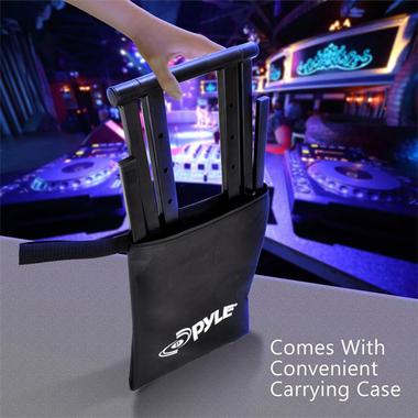 Pyle PLPTS35 Universal Portable Foldable Professional DJ Laptop Controller Stand Thumbnail 6