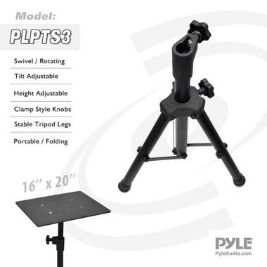 Pyle PLPTS3 Pro DJ Laptop Tripod Adjustable Stand For Notebook Computer Thumbnail 5