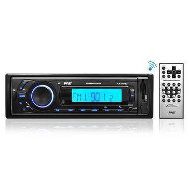 Pyle PLR27MPBU Car Stereo Radio AM/FM SD/USB/MP3/AUX Bluetooth Wireless & Remote Thumbnail 1