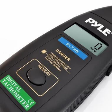 Pyle PLT26 Non Contact Laser TacHometer LCD Display 99999 RPM Range & Case Thumbnail 5