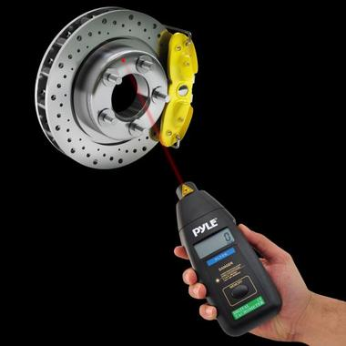 Pyle PLT26 Non Contact Laser TacHometer LCD Display 99999 RPM Range & Case Thumbnail 6