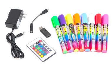Pyle PLWB6080 32 x 24 Erasable Illuminated LED Writing Board w/Remote & 8 Markers Thumbnail 5