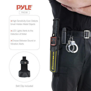Pyle PMD38 Secure Scan Handheld Metal Detector Wand Security Scanner with Adjustable Sensitivity Thumbnail 3