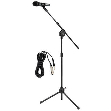 PYLE-PRO PMKSM20 Microphone and Tripod Stand With Extending Boom and Mic Cable Package Thumbnail 1
