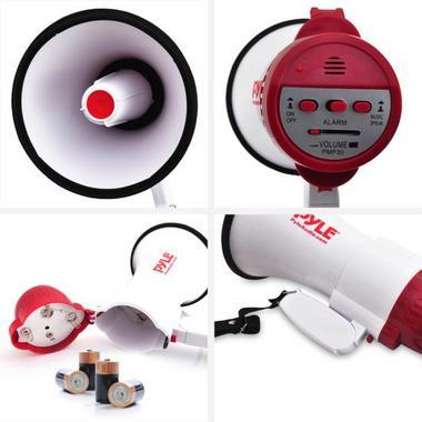 Pyle Pro Megaphone & Strap Mega Phone 30w Pistol Grip Loud Speaker And Siren NEW Thumbnail 6