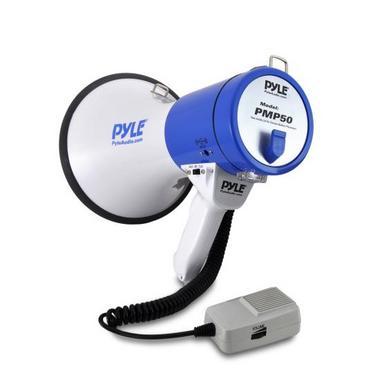 Pyle Pro Megaphone & Strap Mega Phone 50w Pistol Grip Loud Speaker And Siren NEW Thumbnail 5
