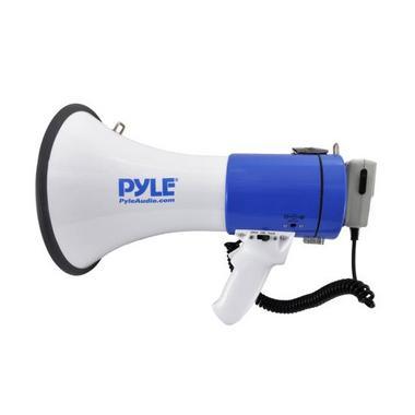 Pyle Pro Megaphone & Strap Mega Phone 50w Pistol Grip Loud Speaker And Siren NEW Thumbnail 4