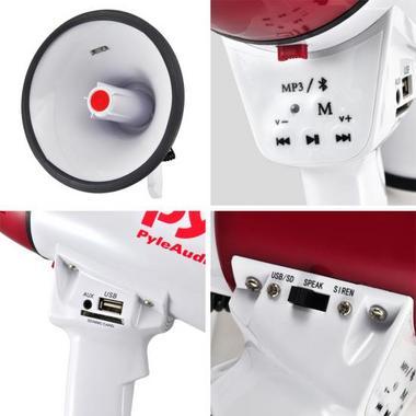 Pyle PMP52BT Bluetooth Megaphone Bullhorn AUX (3.5mm) Input Built-in USB Flash Thumbnail 6